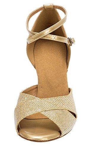 TDA Zapatos con Heel tacón 7cm mujer Gold 7q1d8x7
