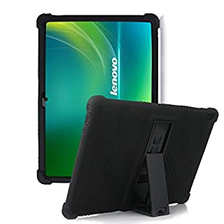 """HminSen Case for Lenovo Smart Tab M10 HD / P10 / M10,(Not for M10 FHD Rel TB-X605FC ) Silicone Case for Lenovo Tab M10 HD TB-X505F TB-X505L / P10 TB-X705F / M10 TB-X605F 10.1"""" Tablet Cover, (Black)"""