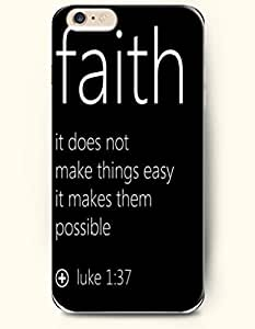 iPhone 6 Case,OOFIT iPhone 6 (4.7) Hard Case **NEW** Case with the Design of faith it does not make things easy it makes them possible luke 1:37 - Case for Apple iPhone iPhone 6 (4.7) (2014) Verizon, AT&T Sprint, T-mobile