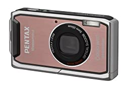 Pentax Optio W60 10 MP Waterproof Digital Camera with 5x Optical Zoom and 2.5 inch LCD (Pink)