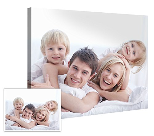 "Your Photo On Canvas 48"" x 36"" – Personalized Premium Canvas Art Print – Customized Canvas Picture Stretched on Wooden Frame as Gallery Artwork"
