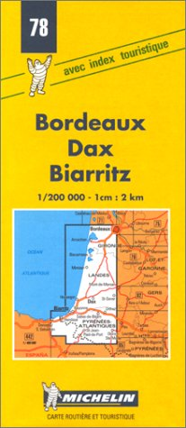 Bordeaux, Dax, Biarritz (Michelin Maps)