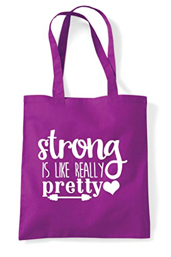 Bag Workout Like Really Shopper Gym Pretty Strong Tote Is Magenta Statement q7x8w6IaC