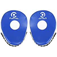Parecido Curved Unisex PVC Boxing Focus Pads (White & Blue)