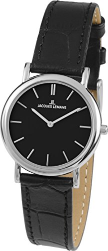 Jacques Lemans Vienna 1-1371A 31mm Stainless Steel Case Leather Mineral Women's Watch