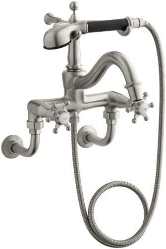 KOHLER K-110-3-BN Antique Bath Faucet, Vibrant Brushed Nickel
