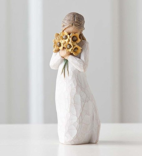 Willow Tree hand-painted sculpted figure, Warm Embrace -