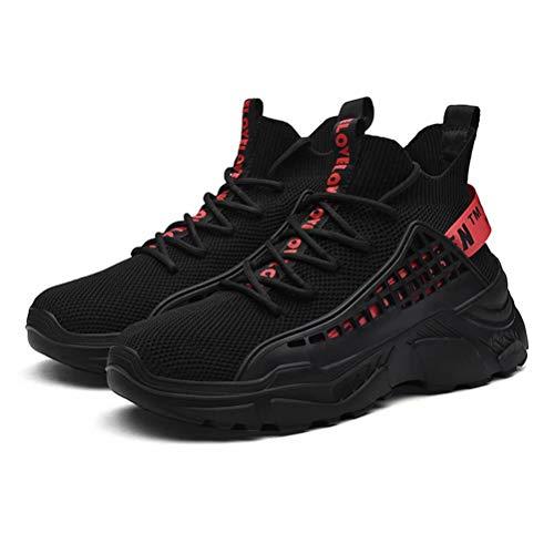 FUSHITON Chaussure Homme Sneakers Baskets Montante Mode Chaussures de Course Marche Respirante Décontractées 2
