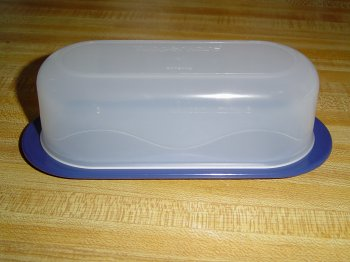 (Tupperware Open House Butter Dish Bold N Blue)