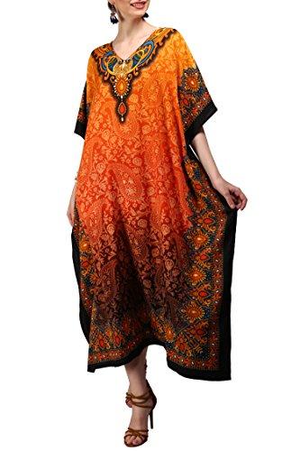 orange topshop dress - 1