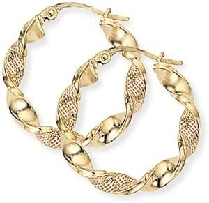 9ct Gold Twisted Earrings