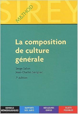 Livre gratuits en ligne La composition de culture générale pdf, epub ebook