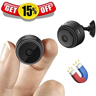 [Upgraded] Spy Camera Wireless Hidden Cameras Mini WiFi Cam HD 1080P Small Nanny Cams Home Security Battery Powered Motion Detection Nigh Vision Remote View by Android/iPhone/PC by FULAO