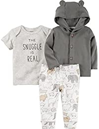 Baby 3 Piece The Snuggle is Real Tee, Hooded Cardigan,...