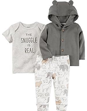 Baby 3-Piece Bear Hoodie Set