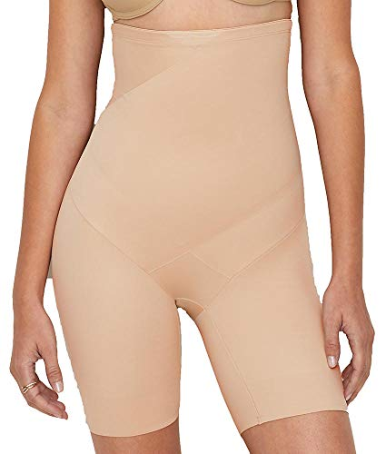TC Fine Intimates Tummy Tux High-Waist Firm Control Thigh Slimmer, XL, Nude