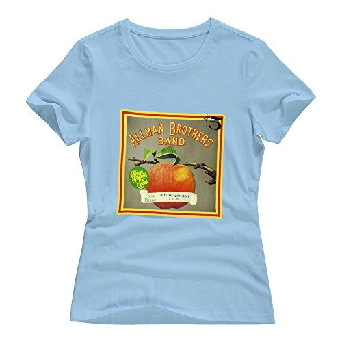 The Allman Brothers Womens T-Shirt Size Large SkyBlue ()