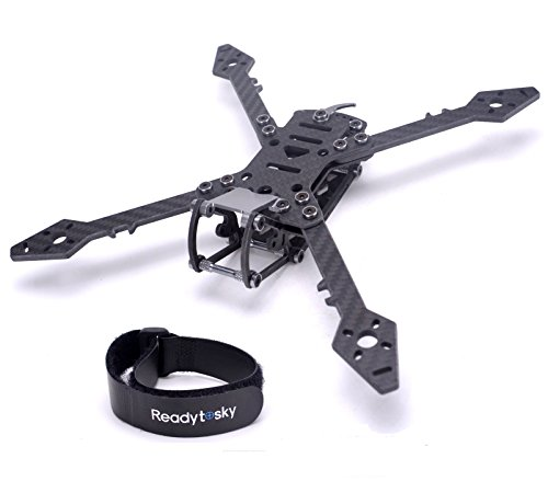Readytosky 250mm FPV Racing Drone Frame Carbon Fiber True X Quadcopter Frame with 4mm FPV Frame Arms+Lipo Battery Straps