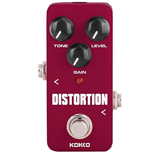 Distortion Guitar Pedal, Mini Effect Pedal Processor of Classic Distortion Tone Effect Universal for Guitar and Bass, Exclude Power Adapter - KOKKO (FDS2)