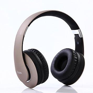FHCG Auriculares inalambricos auriculares estéreo plegables bidireccionales de voz y video juego de auriculares,Color oro de lujo: Amazon.es: Electrónica