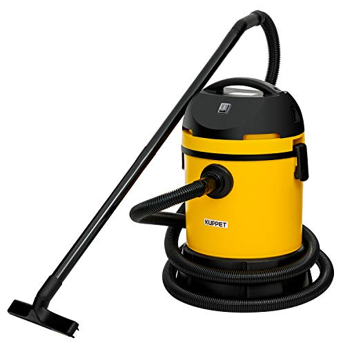KUPPET Wet/Dry Vacuum Cleaner, Vac Pond/Home Dual Use, Portable Shop Vacuum with Attachments, Powerful 16Kpa Suction, Strong Big Tank in 30L, 1400W(Yellow)...