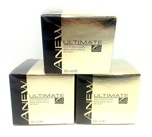 3 x AVON Anew Ultimate 7s Night Gold Emulsion 50ml – 1.7 fl.oz. SET