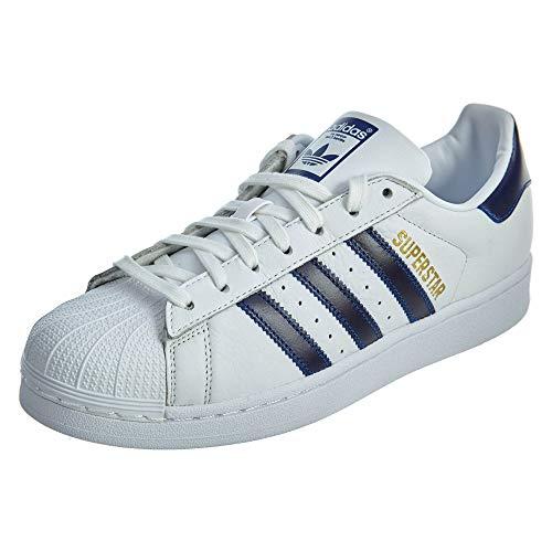 's Superstar Sneaker Running Shoe, White/Collegiate Royal/Gold Metallic, 11.5 M US ()