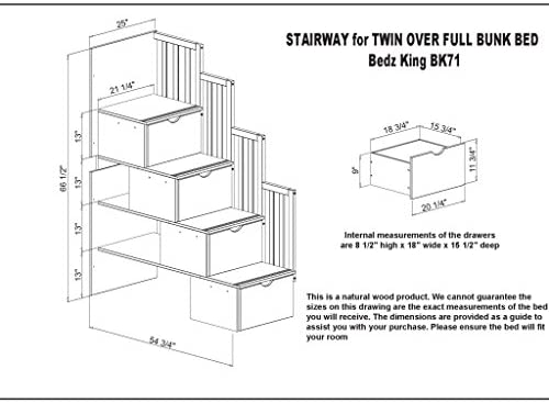 home, kitchen, furniture, bedroom furniture, beds, frames, bases,  beds 6 on sale Bedz King Tall Stairway Bunk Beds Twin over in USA
