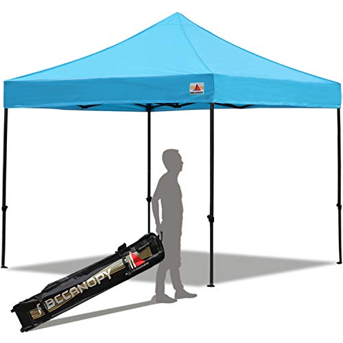 ABCCANOPY Pop up Canopy 10X10 Ft Commercial Instant Canopy Kit Carrying Bag, 30+ Colors Your Choice, Sky Blue