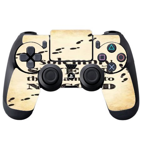 I Solemnly Swear I Am Up To No Good Quote Design Print Image Artwork PS4 DualShock4 Controller Vinyl Decal Sticker Skin by Trendy Accessories