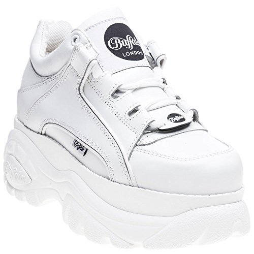 Buffalo Shoes Woman Low Sneakers with Platform 1339-14 2.0 Bianco Size 39 White