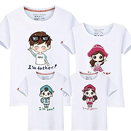 d397d66607121 95% Cotton&5% Silk Mommy and Me Clothes Summer T-Shirts Family Look ...