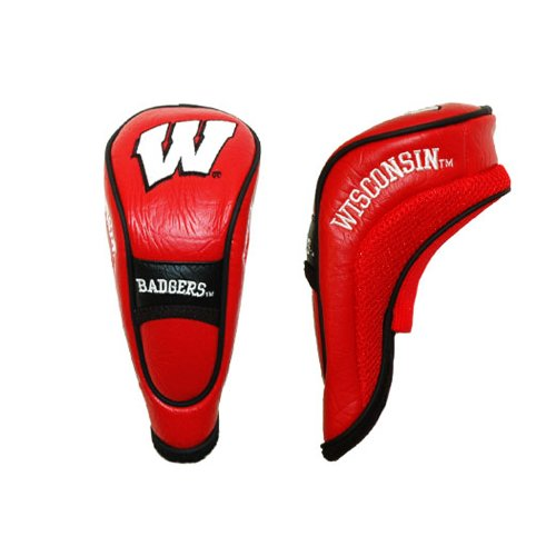 Team Golf NCAA Wisconsin Badgers Hybrid Golf Club Headcover, Hook-and-Loop Closure, Velour lined for Extra Club -