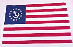 3x5 Ft Nylon Embroidered Yacht Ensign Boating USA Flag