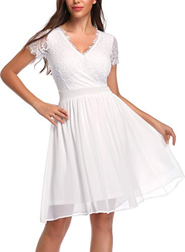 See the TOP 10 Best<br>White Lace V-Neck Dress