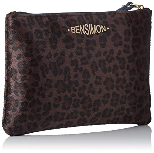 Bensimon chocolat Zipped Marron Pocket Pochette 1wX761