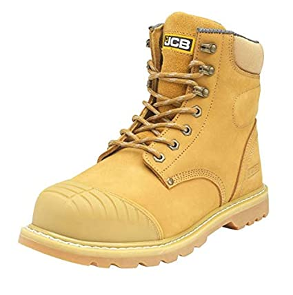 b5915a6b256 JCB 5CX+/H Honey/Yellow Nubuck Safety Boot with Side Zip and Steel ...