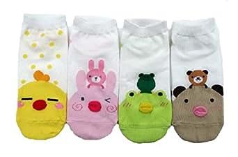 JJMax Women's Sweet Animal Cotton Blend Socks Set One Size Fits All