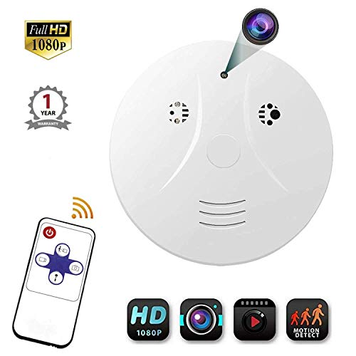 Smoke Detector Camera, Amayia Upgrate Hidden Cameras 1080P Video Camera for Indoor Home Security Monitoring Nanny Cam Motion Detection Hidden Cameras
