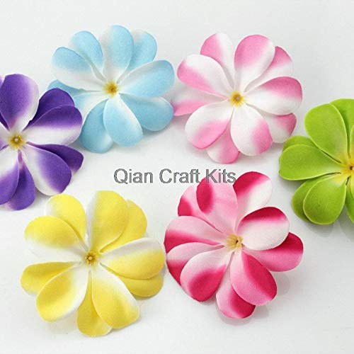 Dalab-50pcs-Mixed-Plumeria-Frangipani-Heads-Artificial-Silk-Flower-3-inches-for-Wedding-Work-Make-Hair-Clips-Headbands-Hats