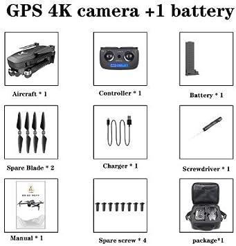 FairOnly Sg906 Pro Drone 4k HD Cámara de cardán mecánica 5g WiFi Sistema GPA Admite Tarjeta TF Vuelo 25 Min RC Distancia 1.2km Bolsa de Viaje Juguetes