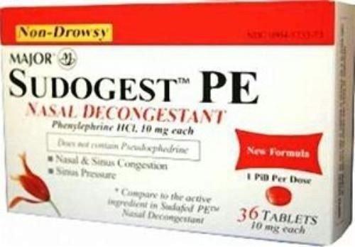 DistiKem(TM) Sudogest PE Generic for Sudafed PE Nasal Decongestant Phenylephrine HCl 10mg