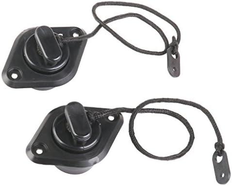 Verpakking PVC afdekking voor afvoerventiel voor boot opblaasbaar kajak 2 stuks zwart