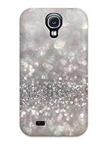 Flexible Tpu Back Case Cover For Galaxy S4 - Glittery Silver