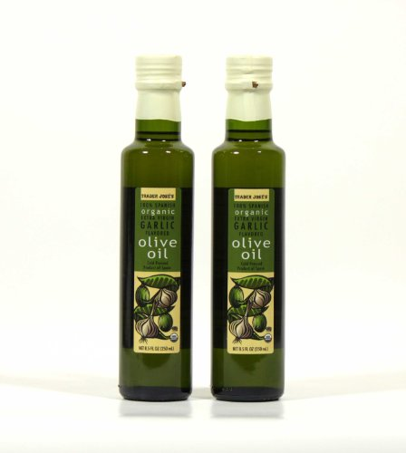 100% Spanish Organic Extra Virgin Garlic Flavored Olive Oil - 2 Pack