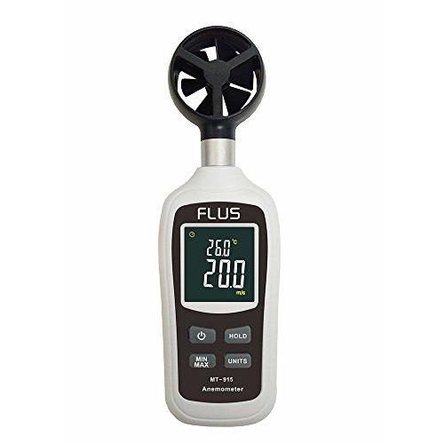 KKmoon Digital Anemometer Thermometer Handheld Pocket Wind Speed Gauge Meters Temperature Measuring Thermometers Diagnostic-tools LCD Tachometer Motor Air Velocity Measurement (Pocket Digital Wind Meter)