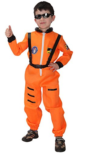 Meeyou Little kids' Space Astronaut Costume(M,Orange) - Orange Costumes For Kids