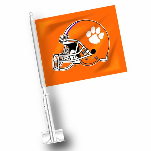 NCAA Clemson Tigers Car Flag Set of 2 ETC