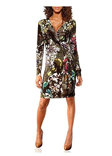 Damen Kleid Druckkleid 38 Größe Mehrfarbig Tesini Linea 05qgPF0
