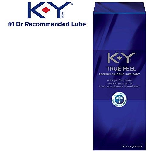 (Personal Lubricant, K-Y True Feel Premium Silicone Personal Lube 1.5 oz, Long-Lasting Formula (Anal Lube) That Is Latex, Polyisoprene & Polyurethane Compatible)